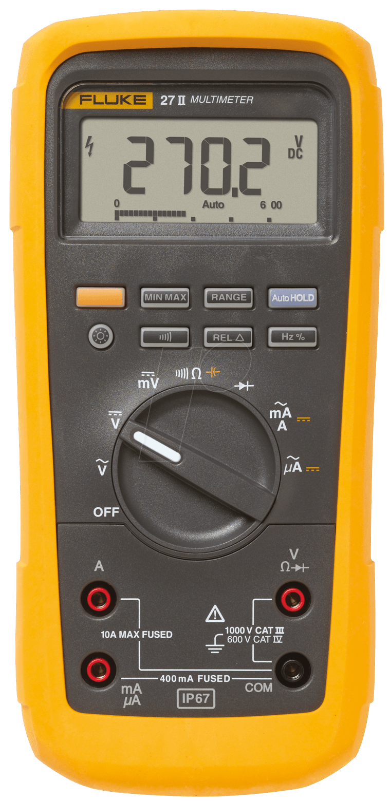 fluke 27ii multimeter 27 ii digital 6000 counts f r industrie bei reichelt elektronik. Black Bedroom Furniture Sets. Home Design Ideas
