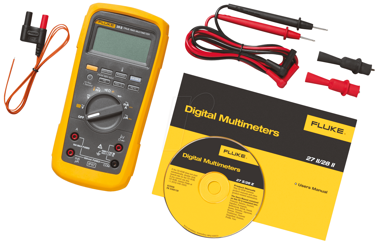 fluke 28ii multimeter 28 ii digital 19999 counts f r industrie bei reichelt elektronik. Black Bedroom Furniture Sets. Home Design Ideas
