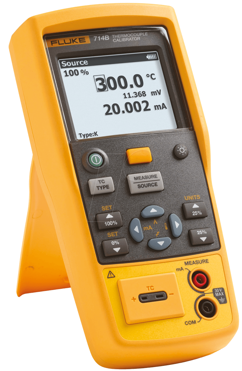how to use fluke 714 thermocouple calibrator