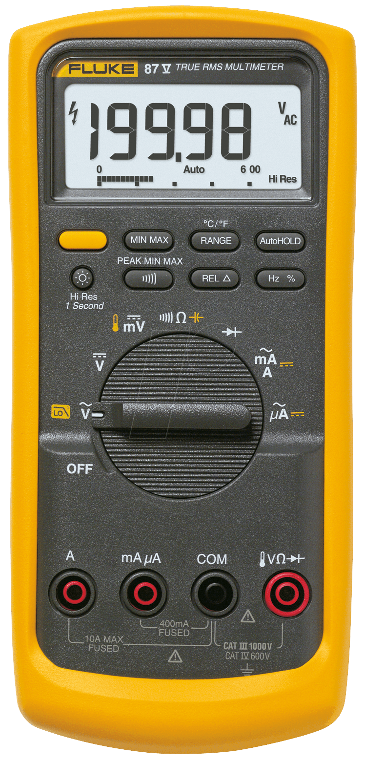 fluke 87v multimeter 87v digital 19999 counts trms bei reichelt elektronik. Black Bedroom Furniture Sets. Home Design Ideas
