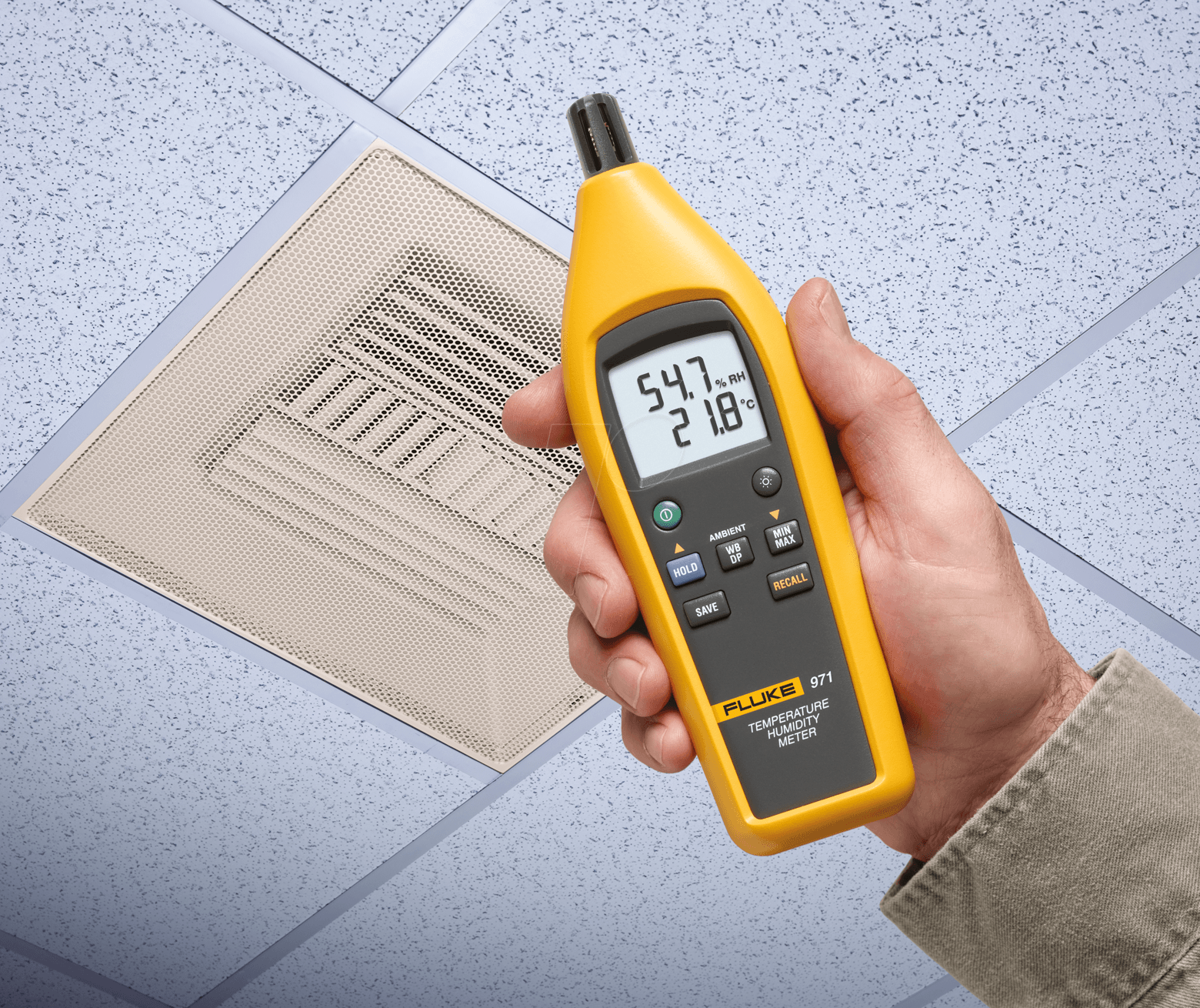 Fluke Humidity Probe : Fluke temperature and humidity meter at reichelt