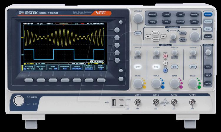 GDS-1074B - Digital-Speicher-Oszilloskop GDS-1074B, 70 MHz, 4 Kanäle