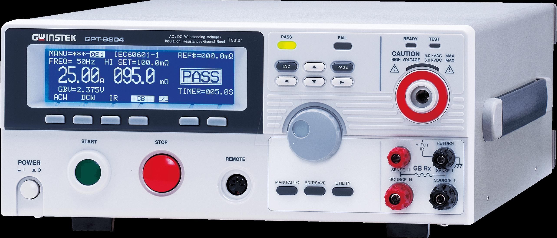 GPT-9804 - Safety tester GPT-9804, 200 VA AC/DC, earthing measurement