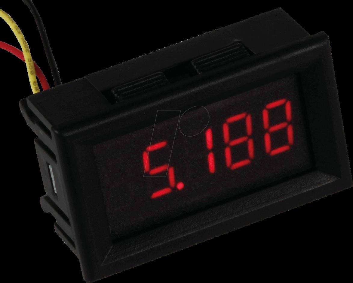 JOY-IT VM433 - LCD, Voltmeter, 4 Digit, 3,5 bis 30 V (DC)