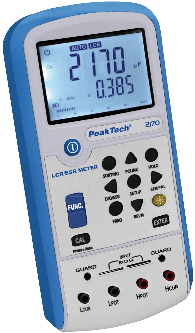 Peaktech 2170 peaktech 2170 lcr esr meter with usb at for Gartenpool 3 meter