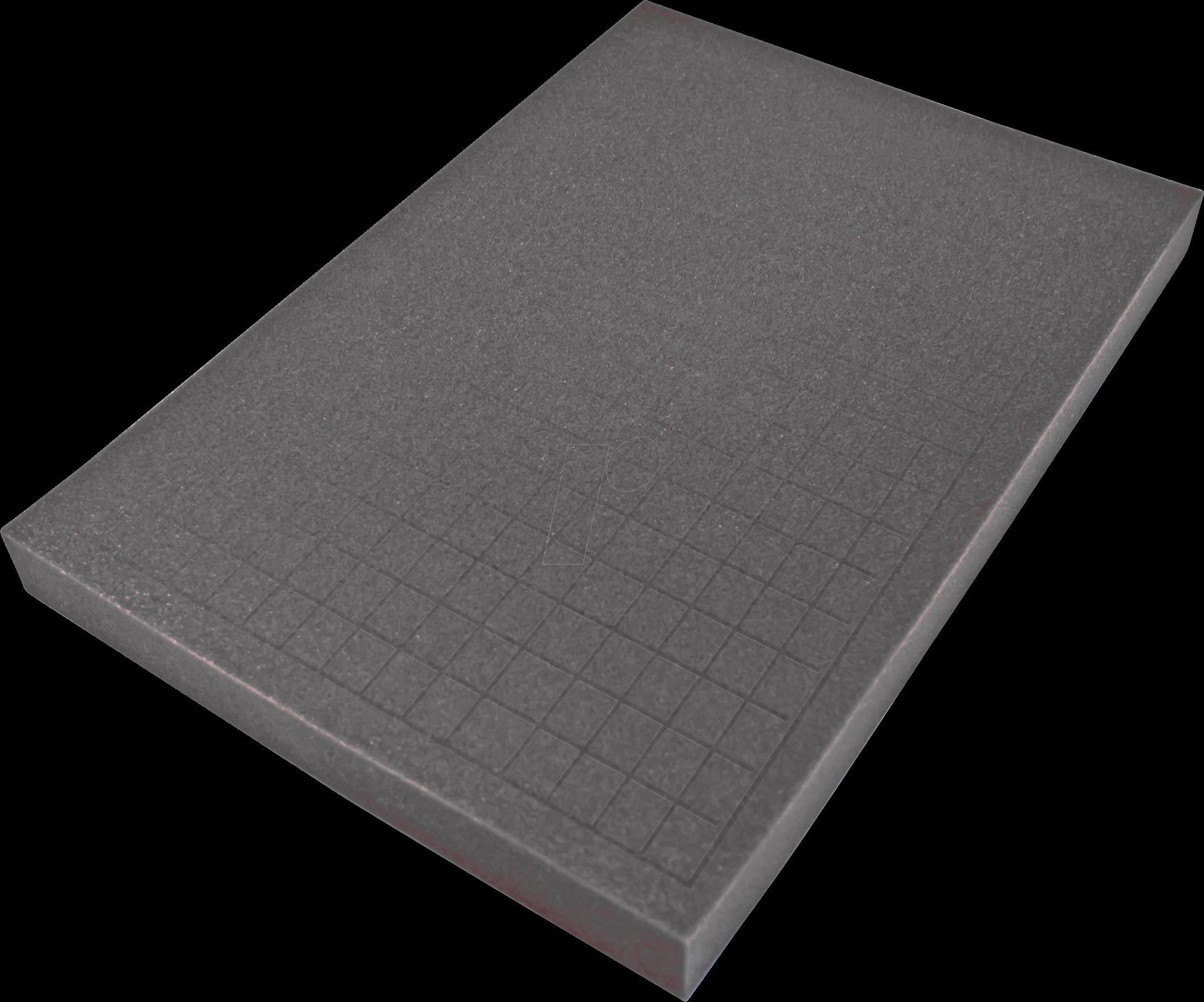 PEAKTECH 7260 S - Würfelschaumeinlage für PeakTech 7260, 355 x 220 x 20 mm