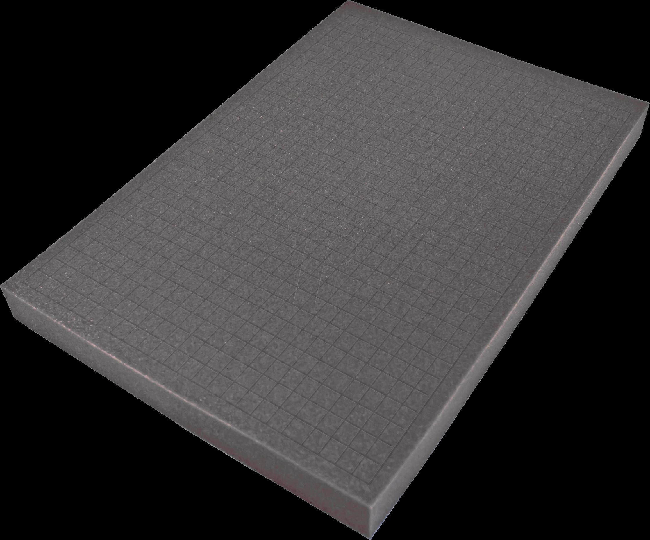 PEAKTECH 7265 S - Würfelschaumeinlage für PeakTech 7265, 380 x 270 x 30 mm