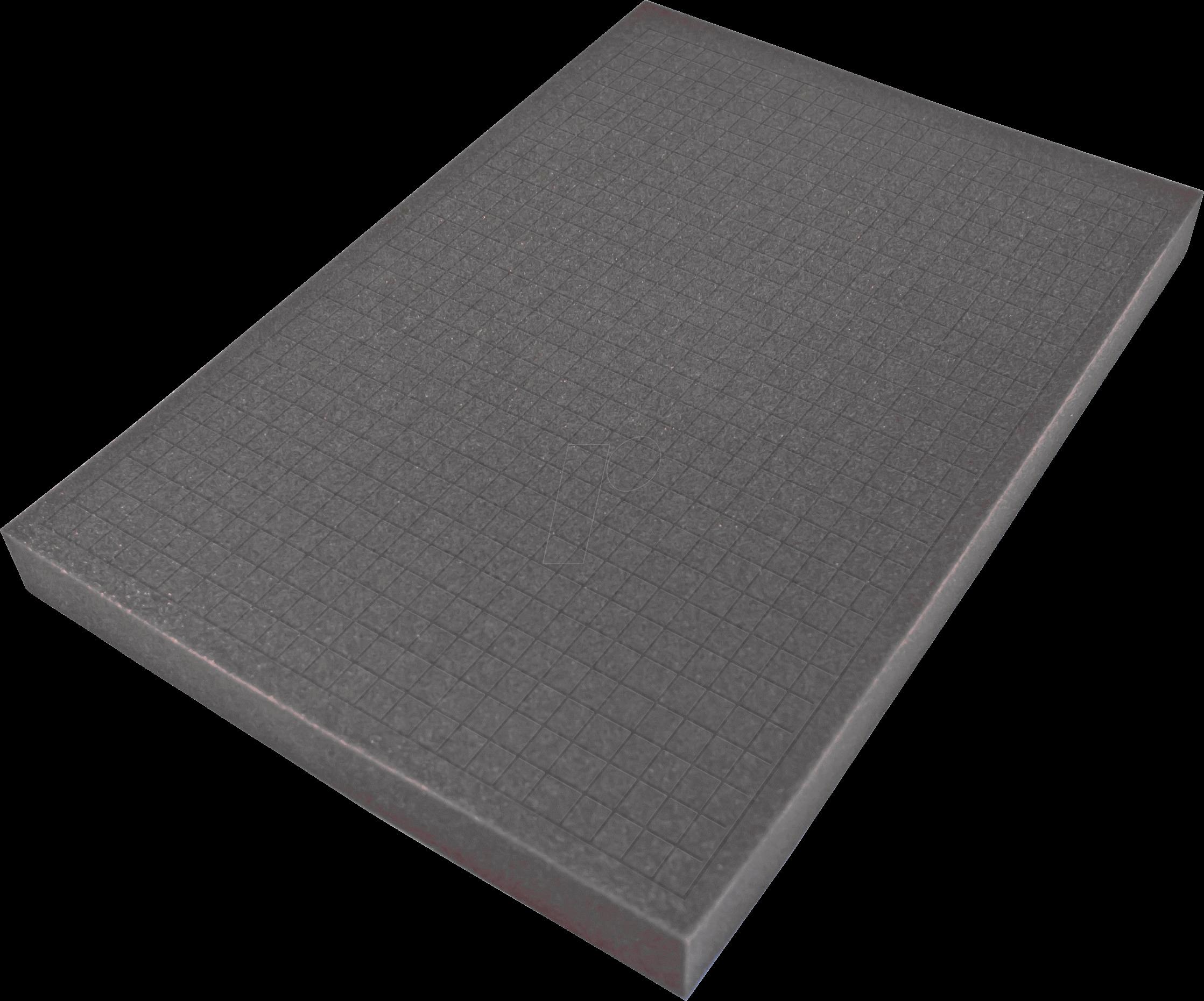 PEAKTECH 7270 S - Würfelschaumeinlage für PeakTech 7270, 490 x 340 x 40 mm