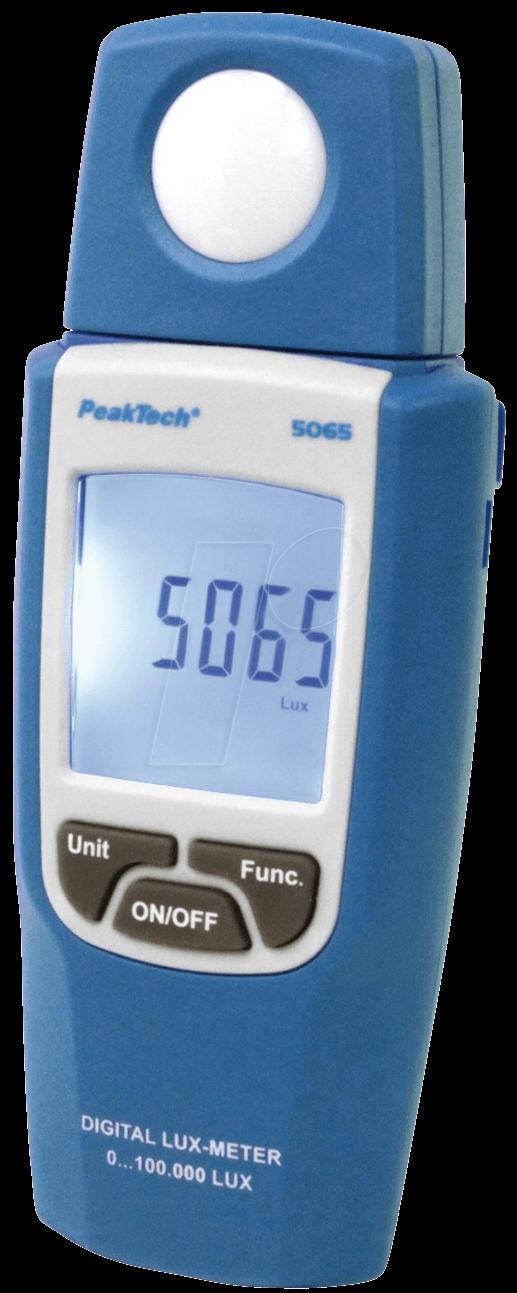 PEAKTECH 5065-2 - Digital-Luxmessgerät, 0 bis 100000 Lux