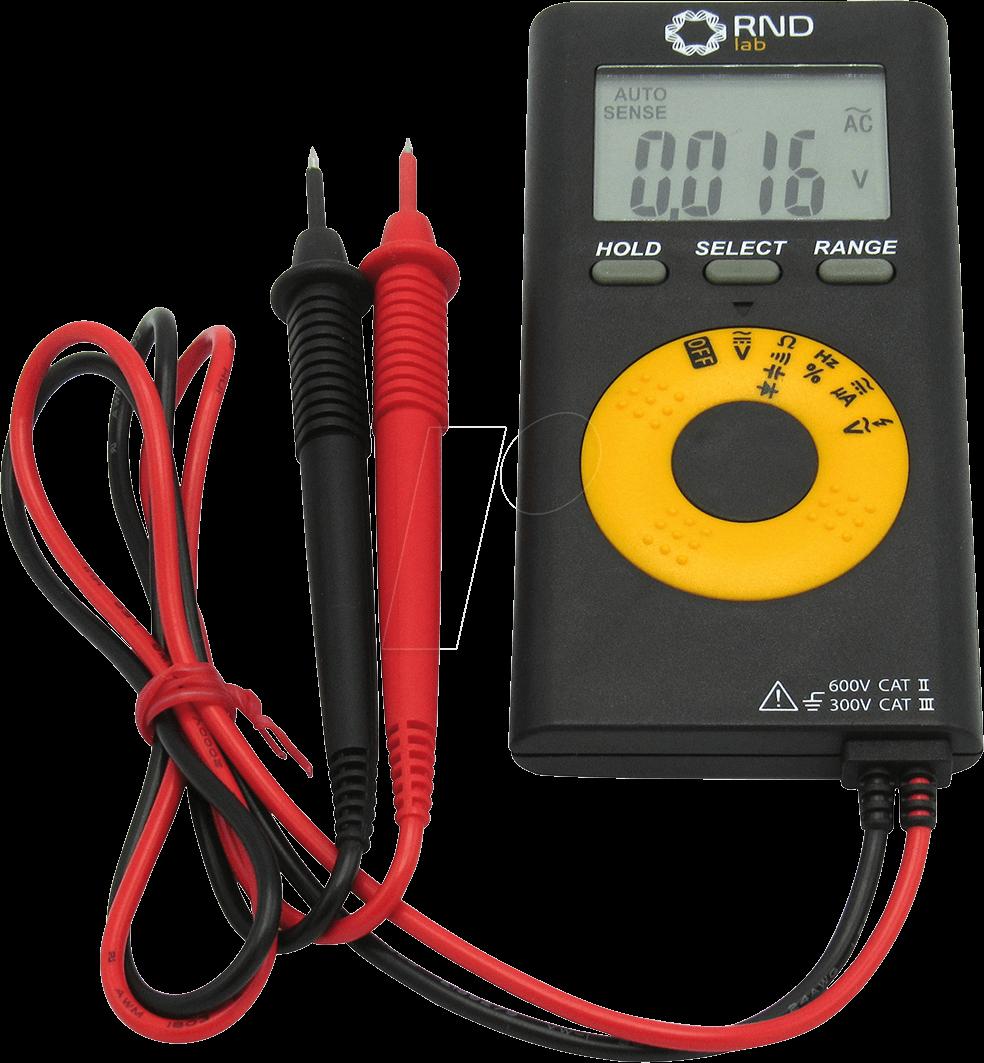 RND 355-00001 - Multimeter, digital, 4000 Counts, 600 V AC/DC