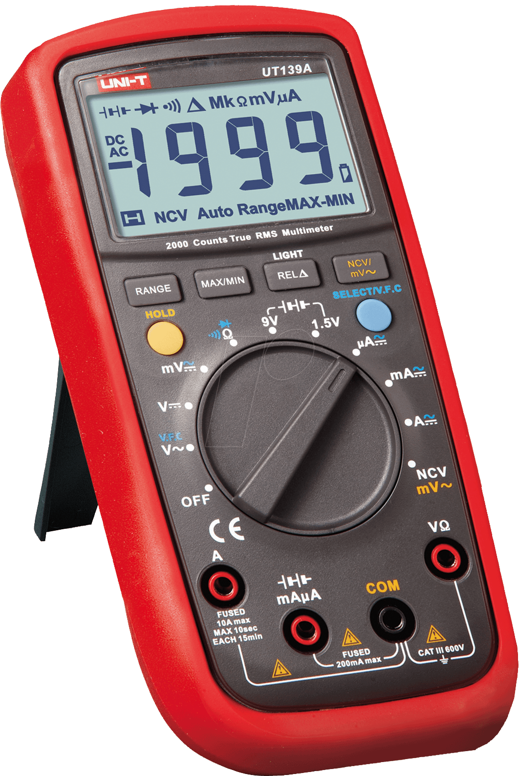 ut 139b multimeter digital 4000 counts trms bei reichelt elektronik. Black Bedroom Furniture Sets. Home Design Ideas