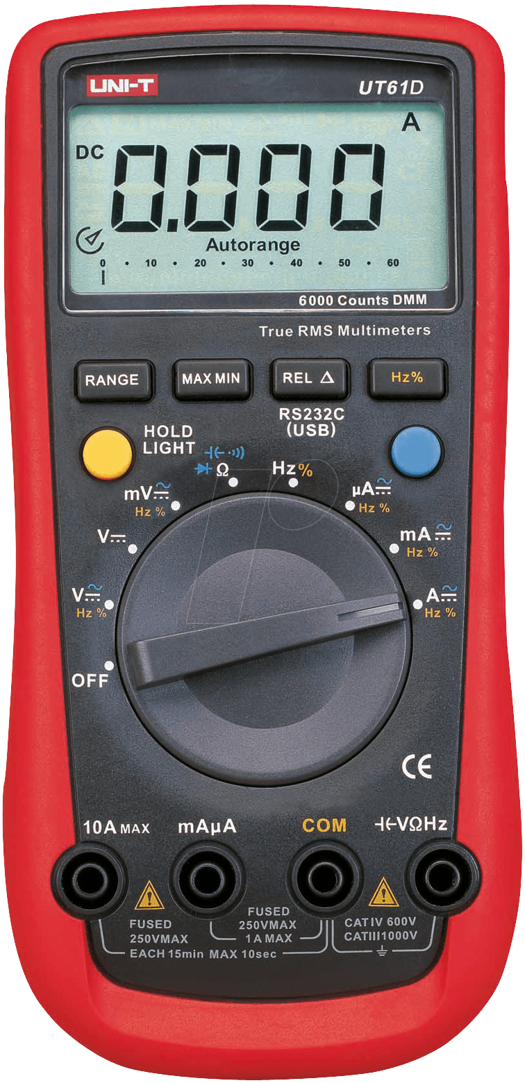 ut 61d uni t trms digitalmultimeter 6000 counts usb bei