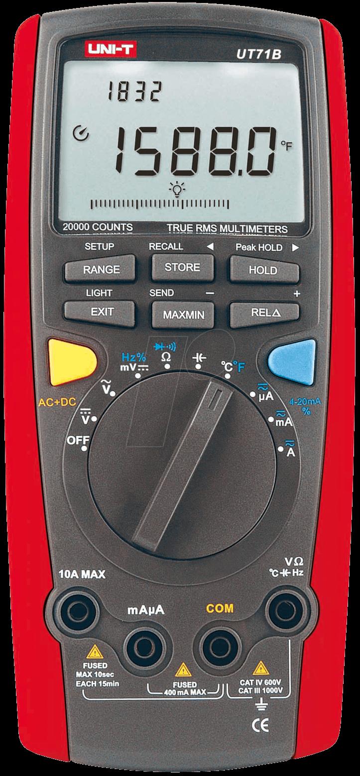Uni T Multimeter Digital : Ut b uni t trms digital multimeter counts at