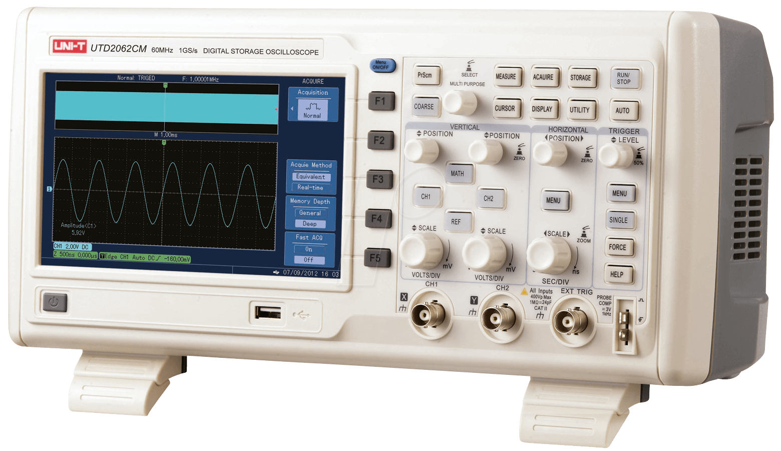 Digital Storage Oscilloscope : Utd cm digital storage oscilloscope mhz gs s
