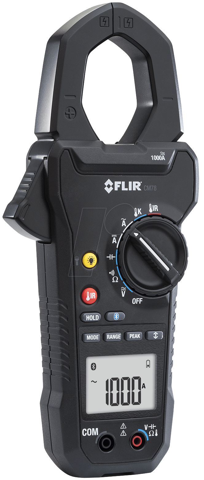 Current Clamp Meter : Flir cm current clamp meter a ac dc with ir