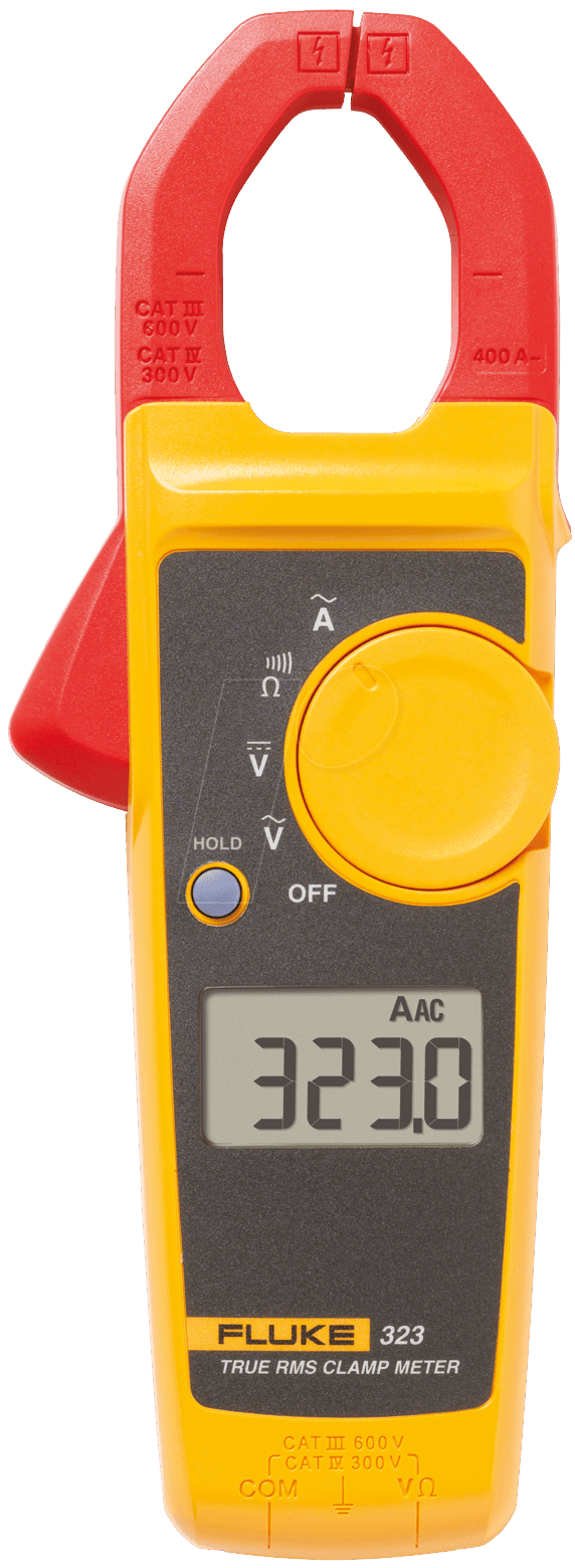 Fluke 323 Clamp Meter Fluke : Fluke true rms current clamp meter at