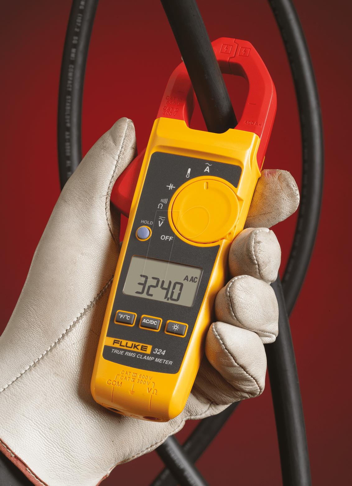 Fluke 333 Clamp Meter : Fluke true rms current clamp meter at