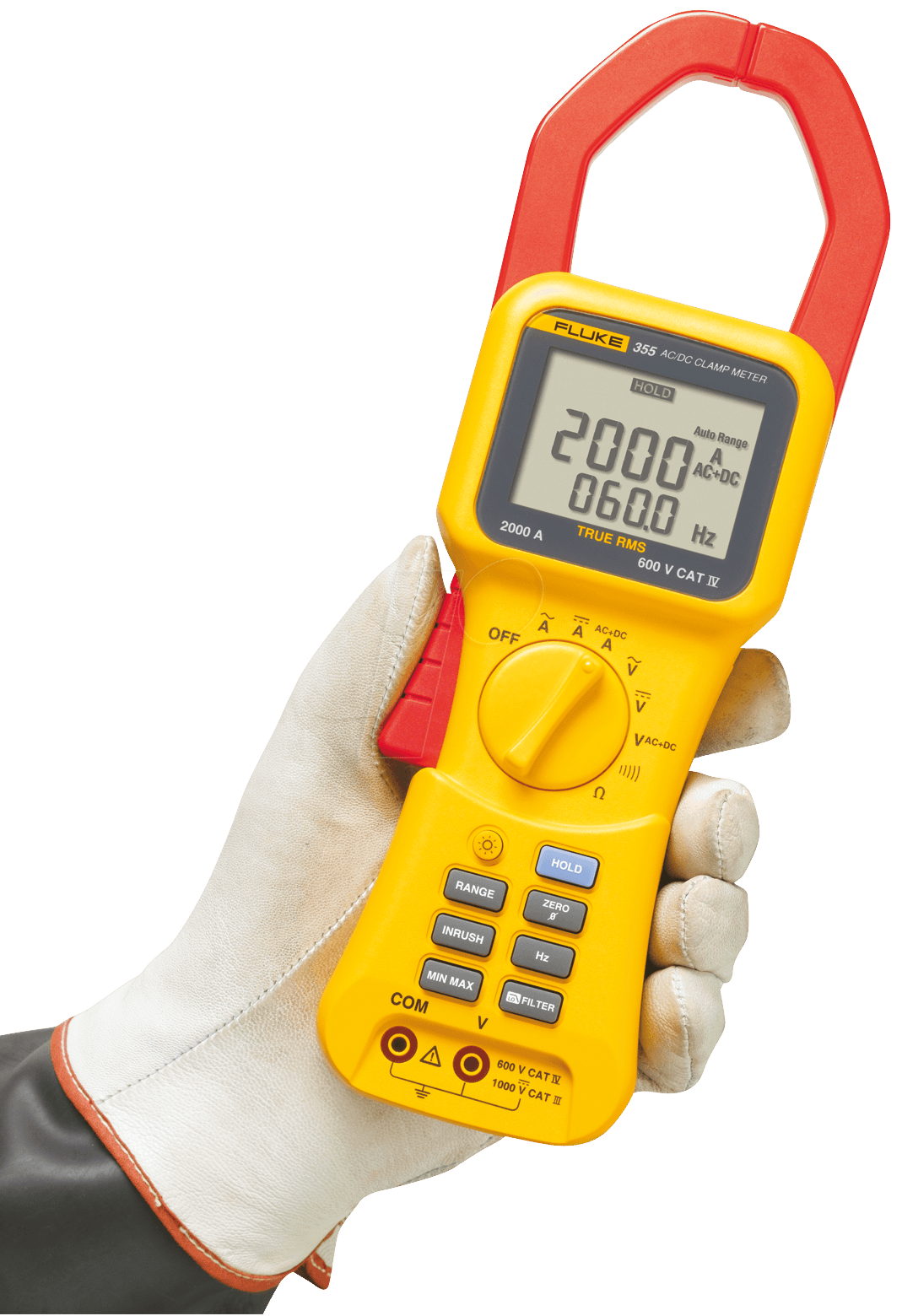 fluke 355 fluke true rms clamp meter for 2000 a at. Black Bedroom Furniture Sets. Home Design Ideas