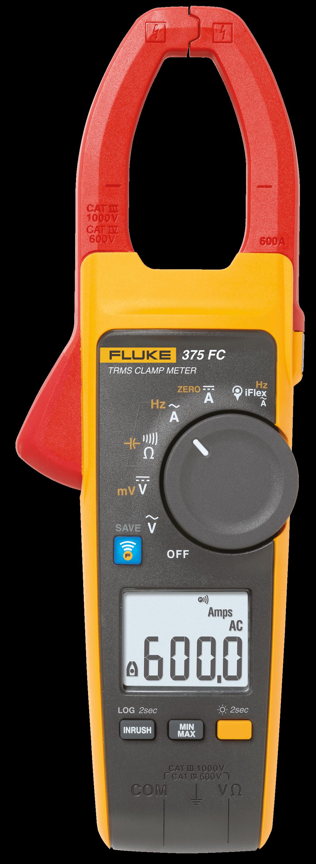 Fluke 375 Clamp Meter : Fluke fc true rms ac dc clamp meter at