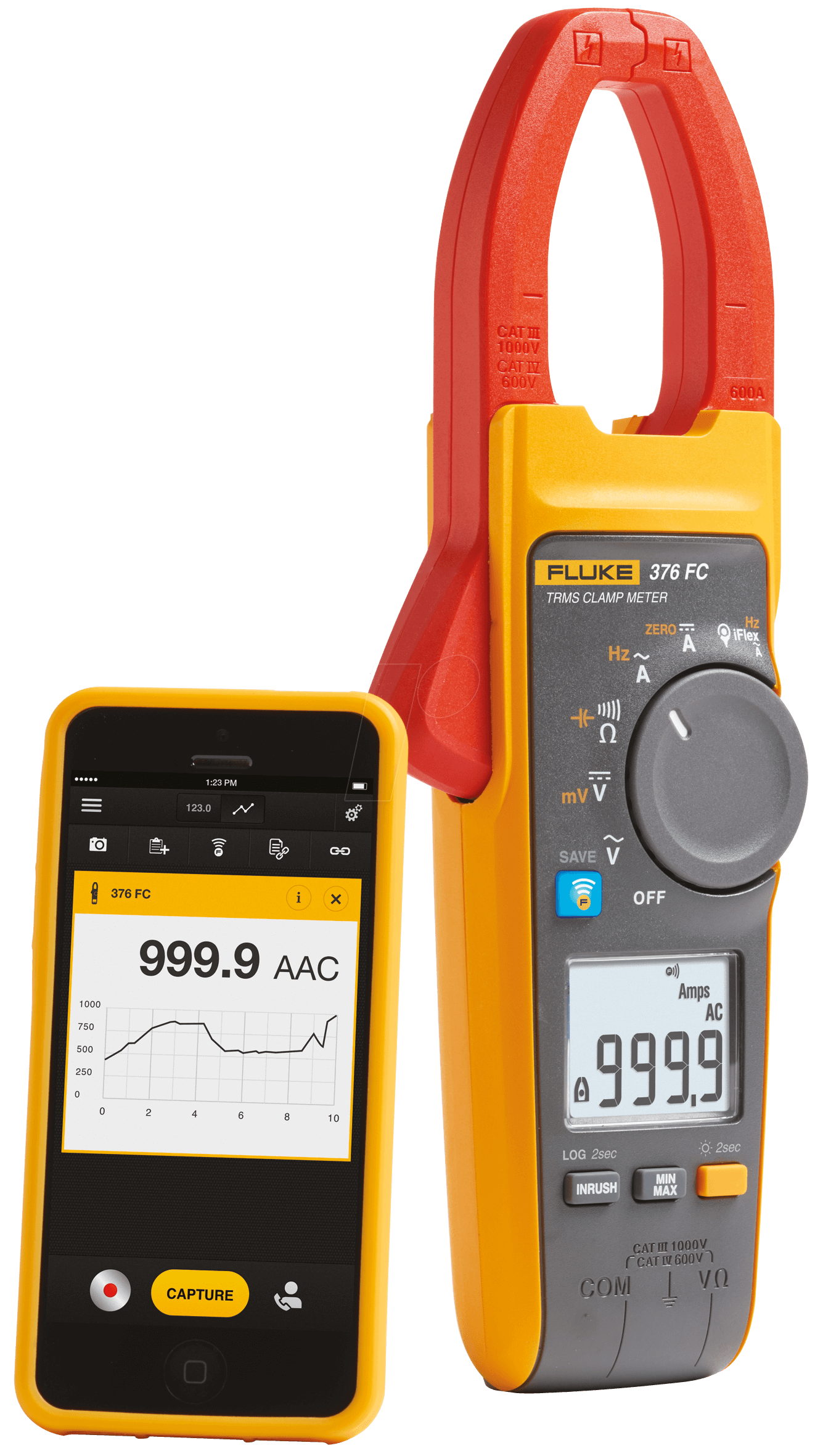 Ac Dc True Rms Clamp Meter : Fluke fc true rms ac dc clamp meter with iflex bei