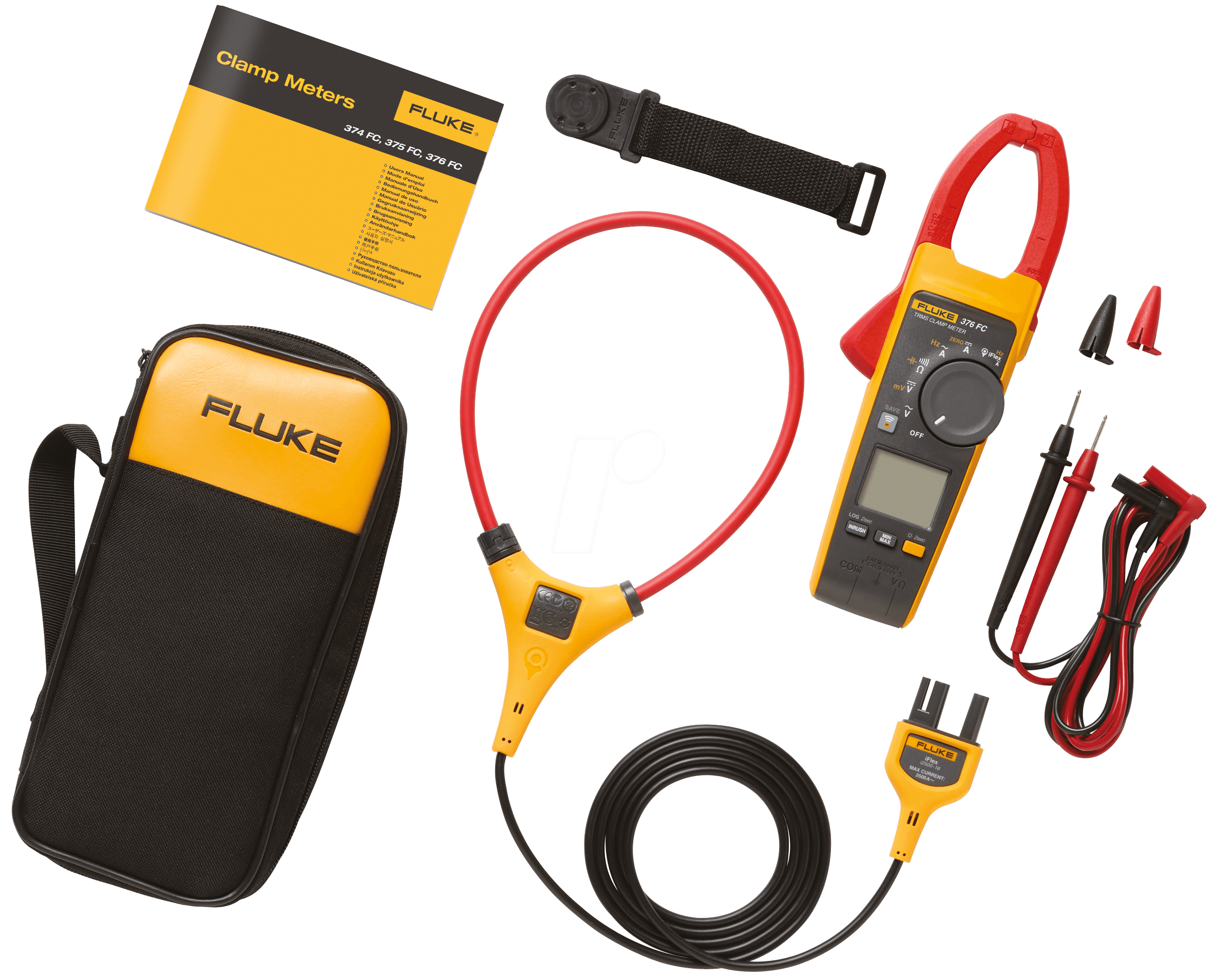 Ac Dc True Rms Clamp Meter : Fluke fc true rms ac dc clamp meter with iflex at