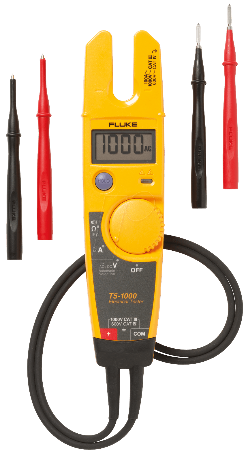 Electrical Meter Testers : Fluke t electrical tester with fixed prong v at