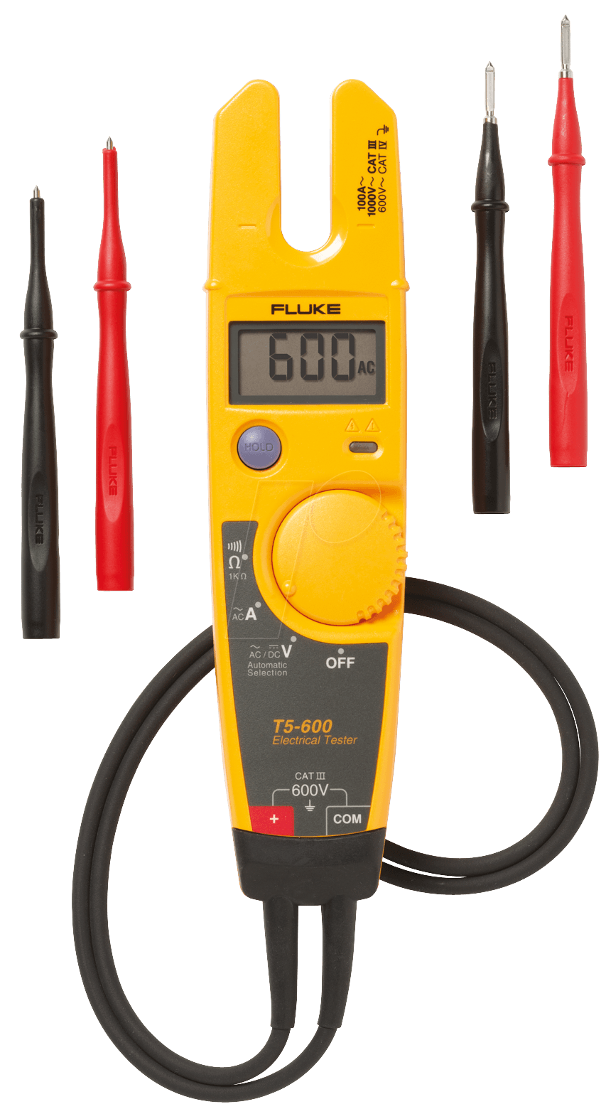 Fluke Voltmeter Tester : Fluke t electrical tester with fixed prong v at