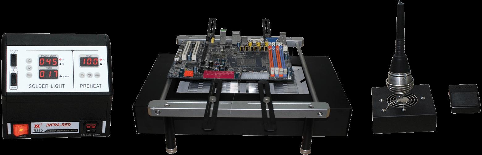 STATION IR-860II: SMT - BGA soldering system w.infrared preheater ...
