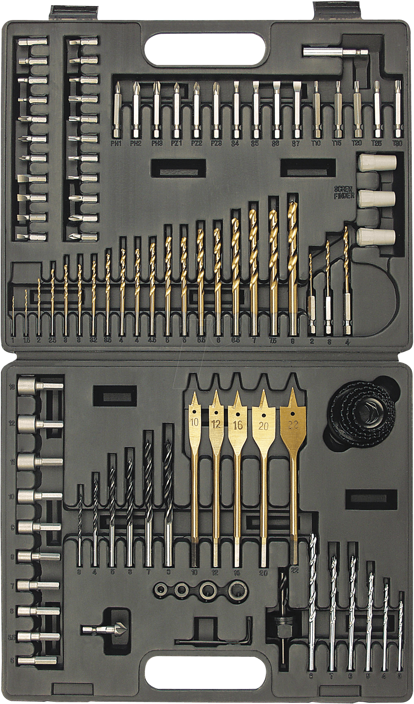 Drill and bit kit, 101-piece BRÜDER MANNESMANN 29815