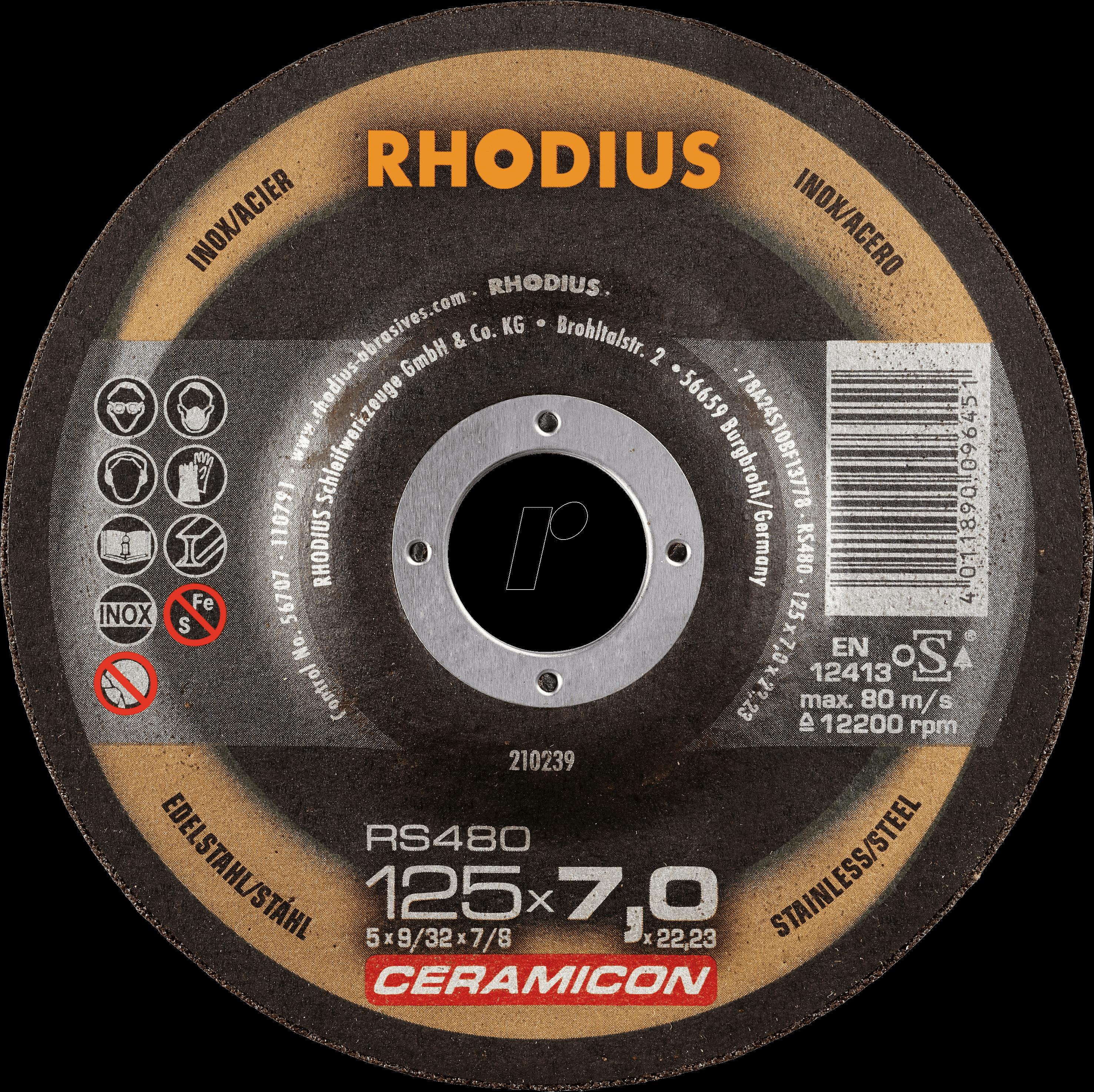 RHO 210238 - Schruppscheibe, Edelstahl, 115 mm