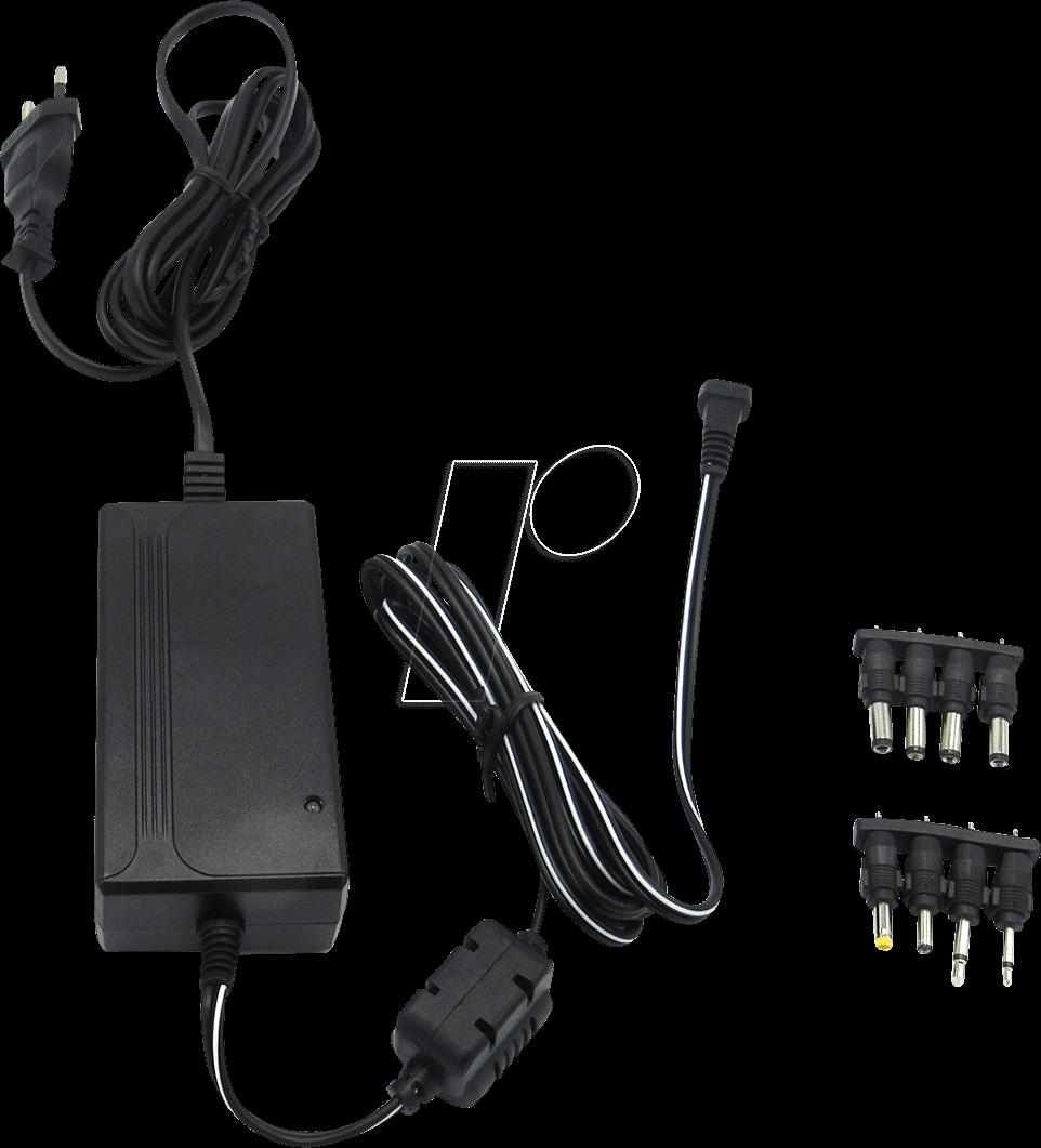 RND 320-00035 - Steckernetzteil, 27 W, 12 V, 2,25 A, stabilisiert, universal