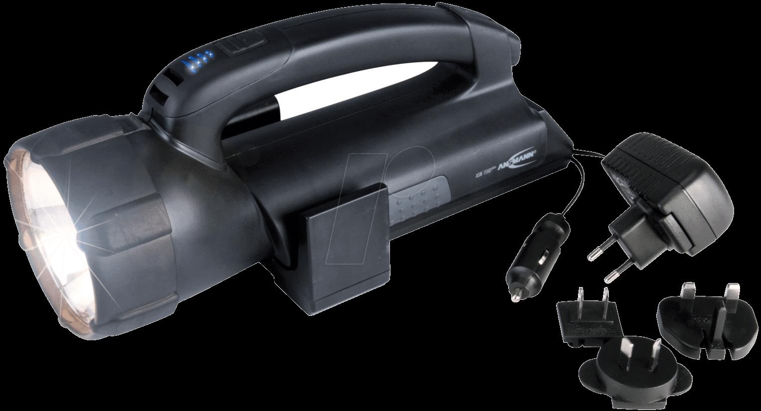 ASN 15 HD - Halogen-Handlampe 15HD Plus, 550 lm, schwarz, 3000 mA Akku