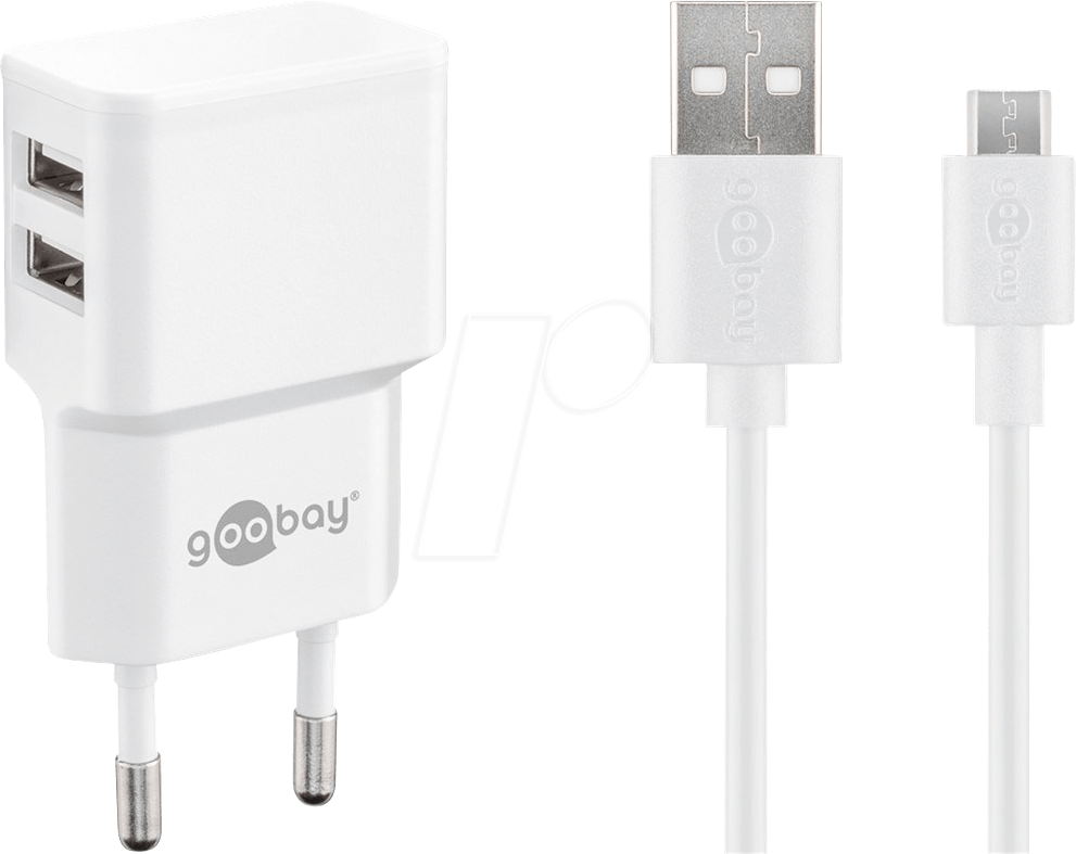 Dual Ladeset 2,4 A, Netzteil mit 2x USB Ausgang inklusive