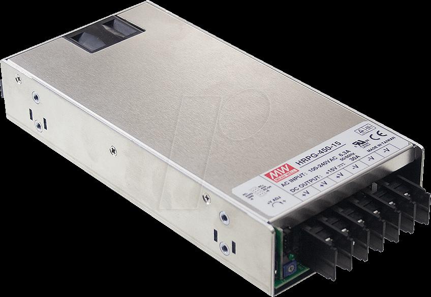 MW HRPG-450-12 - Schaltnetzteil, PFC, 450W, 12V/37,5A