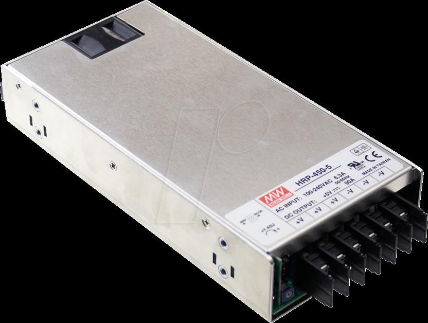 MW HRP-450-12 - Schaltnetzteil, PFC, 450W, 12V/37,5A