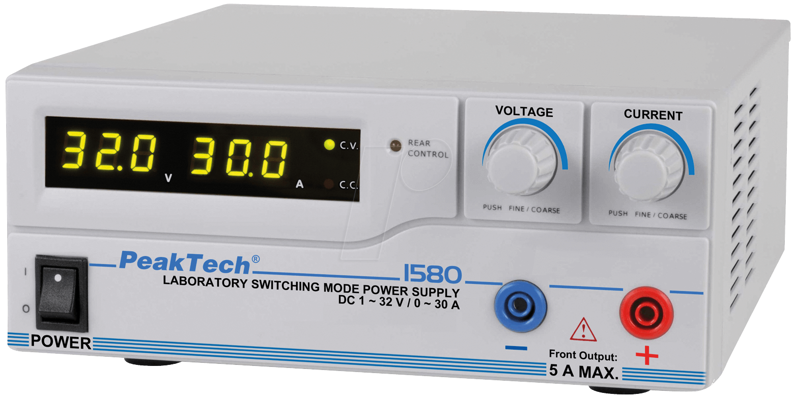 PEAKTECH 1580: Digital Laboratory Switching Power Supply