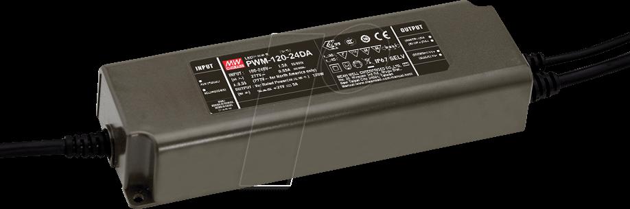 PWM-120-12DA - LED-Trafo, 120 W, 12 V DC, 10 A, IP67, DALI