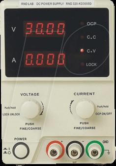 RND 320-KD3005D - Labornetzgerät, 0 - 30 V, 0 - 5 A, stabilisiert