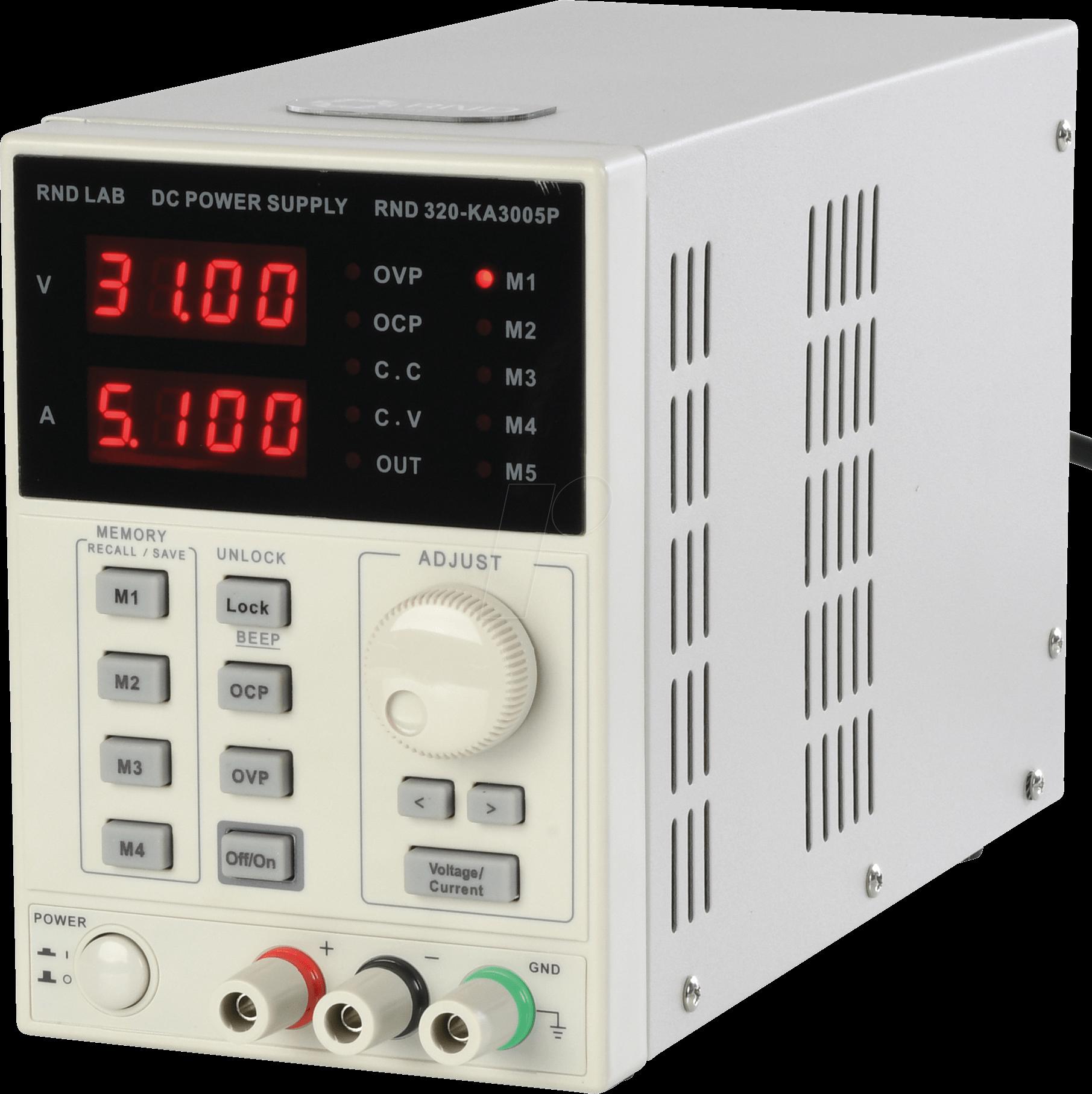 RND 320-KA3005P - Labornetzgerät, 0 - 30 V, 0 - 5 A, stabilisiert, programmierbar