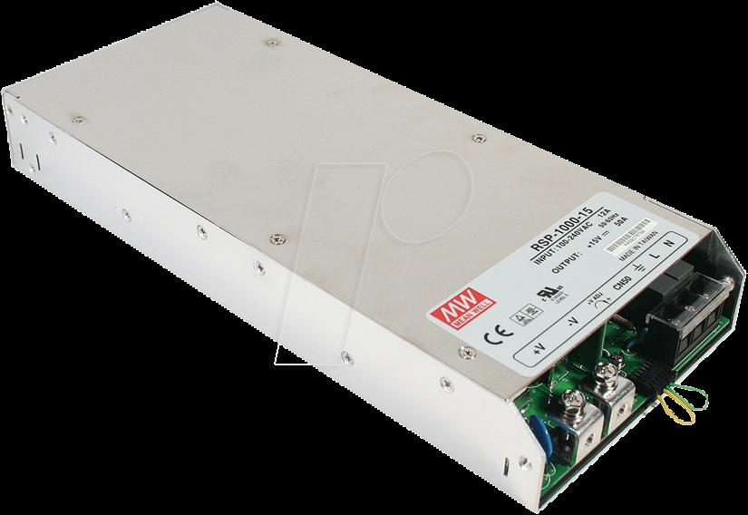 MW RSP-1000-12 - Schaltnetzteil, PFC, 720W, 12V/60A