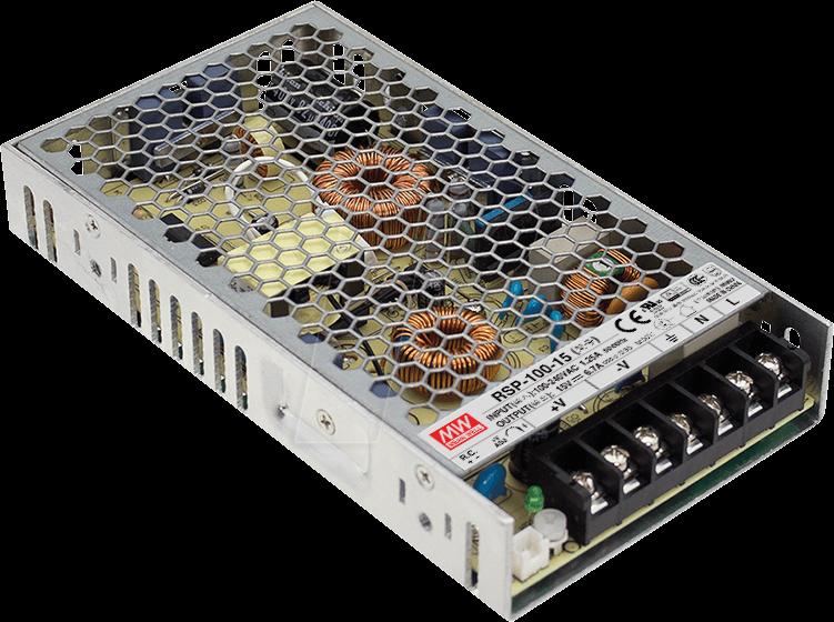 MW RSP-100-12 - Schaltnetzteil, PFC, 102W, 12V/8,5A