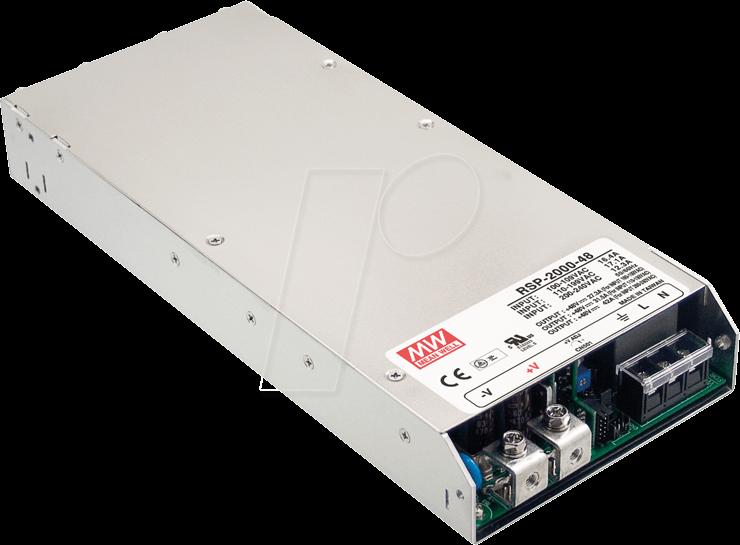 MW RSP-2000-12 - Schaltnetzteil, PFC, 1200W, 12V/100A
