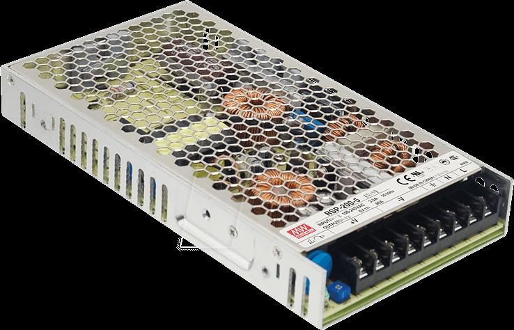 MW RSP-200-12 - Schaltnetzteil, PFC, 200W, 12V/16,7A
