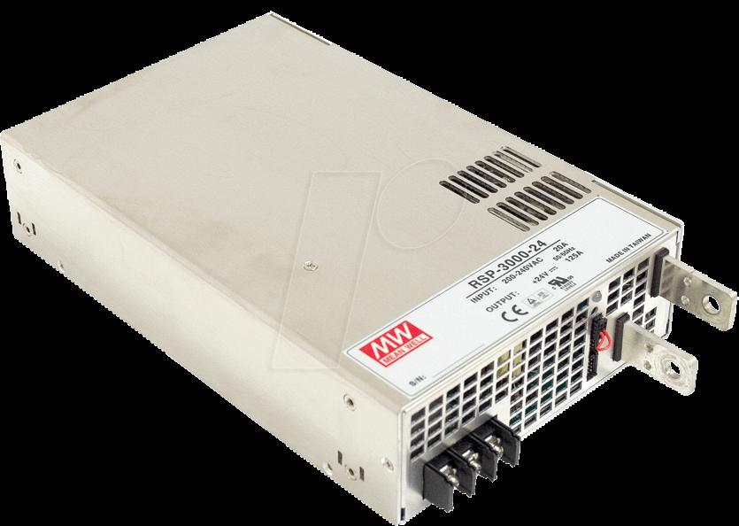 MW RSP-3000-12 - Schaltnetzteil, PFC, 2400W, 12V/200A