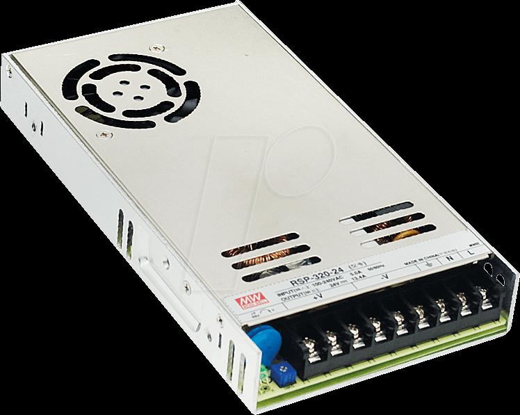 MW RSP-320-12 - Schaltnetzteil, PFC, 320W, 12V/26,7A