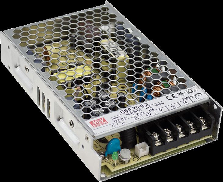 MW RSP-75-12 - Schaltnetzteil, PFC, 76W, 12V/6,3A