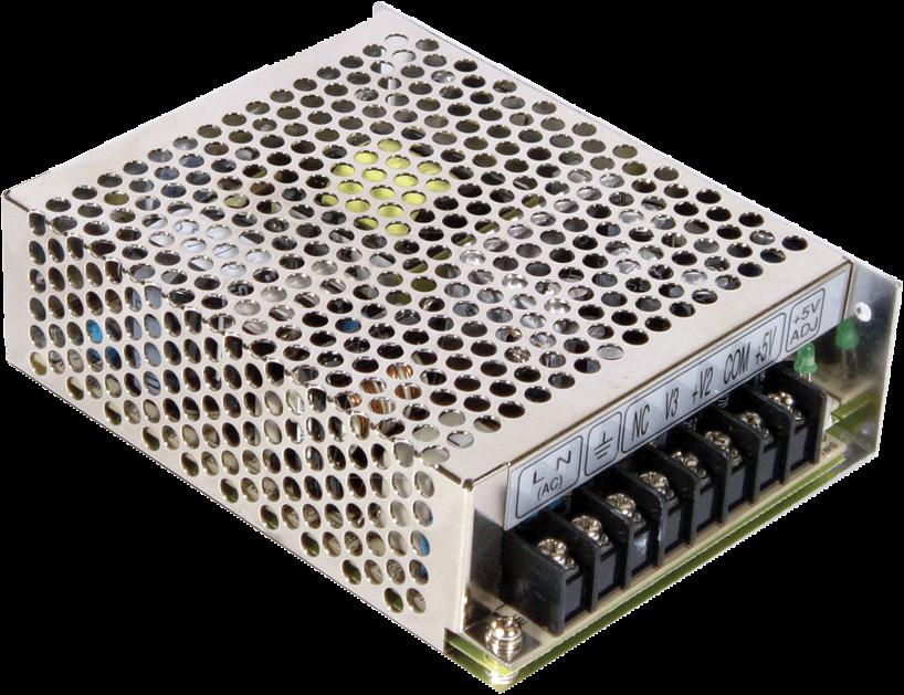 MW RT-65B - Schaltnetzteil, triple output, 64W, 5/12/-12V