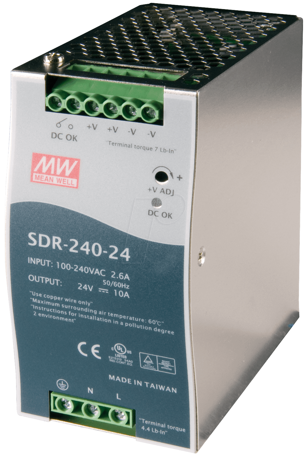 Mean Well SDR-240-24 Rail Power Supply