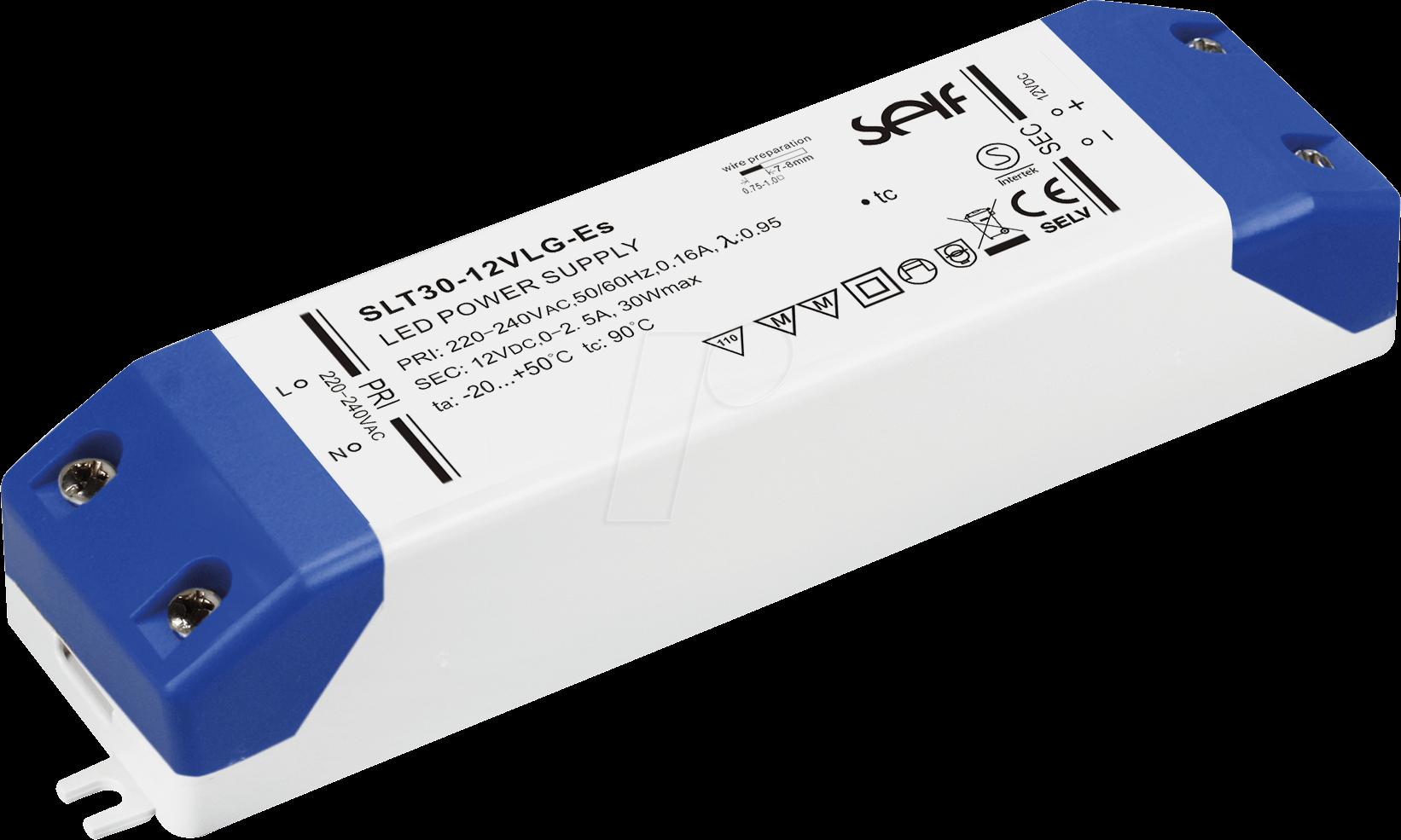 Slf Slt30 24vlg Led Trafo 30 W 24 V Dc 1250 Ma Bei Reichelt Volt Battery Circuit Wiring Self