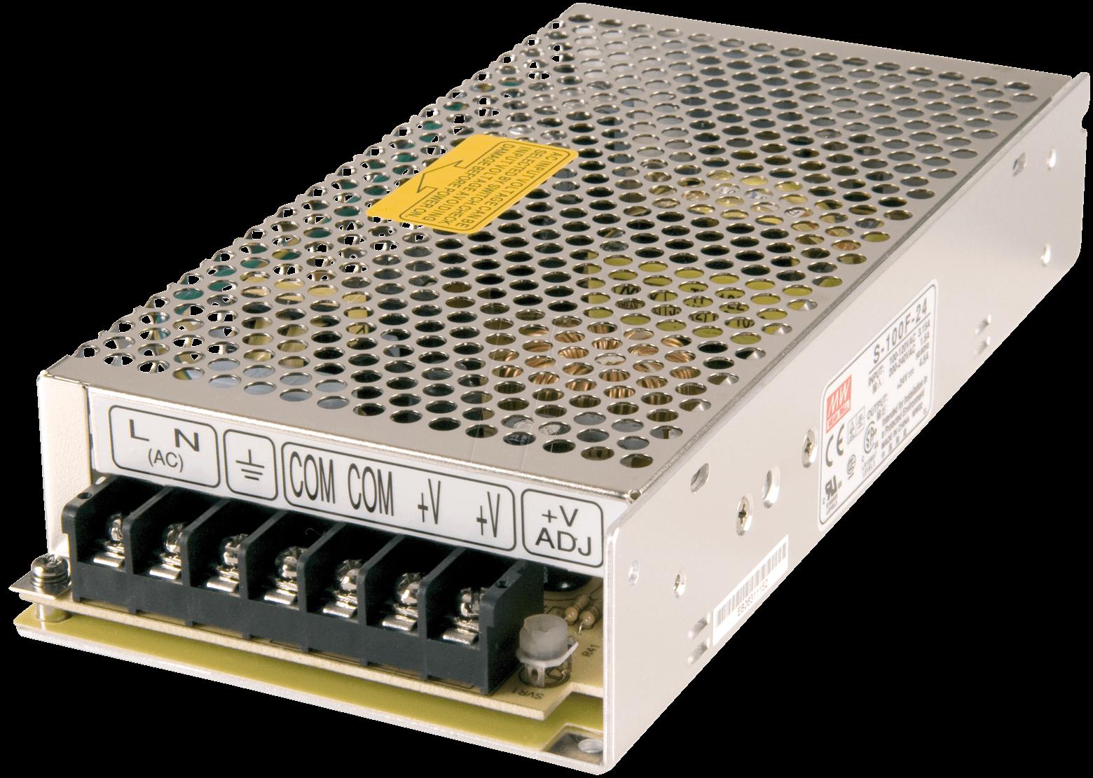 SNT MW100-12 - Schaltnetzteil, geschlossen, 12V / 8,5A / 100W